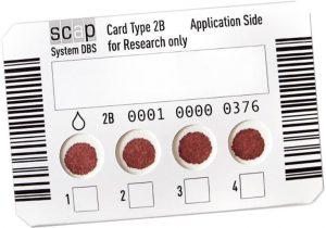 SCAP DBS Sample Card